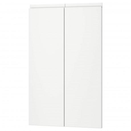 Дверца д/напольн углового шк, 2шт ВОКСТОРП правосторонний матовый белый белый фото 0